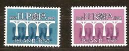 Cept 1984 Islande Iceland Ijsland Yvertn° 567-568 *** MNH Cote 3,50 Euro Europa - 1944-... Republique