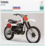 Yamaha 250 YZM -  Tout Terrain (Motocross)  - 1980 -  Fiche Technique/Carte De Collection - Motociclismo
