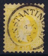 Austrian Post In Levant: Mi 1 II Feiner Druck Perfo K 9,5 Obl./Gestempelt/used Constantinopel - Oriente Austriaco