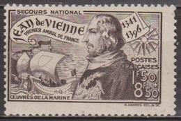 Jean De Vienne, Amiral - 1942 - FRANCE - Oeuvres De La Marine - N° 544 ** - France