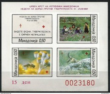 Macedonia  - 1993 TB Week Imperf S/sheet  MNH **   Sc RA43c - Macédoine