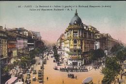 75----PARIS--le Boulevard Des Italiens Et Le Boulevard Haussmann--voir 2 Scans - France