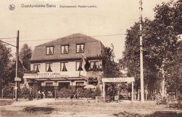 Oostduikerke-Bains. Etablissement Moeder-Lambic. Très Belle Carte Animée - Oostduinkerke