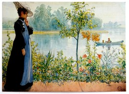 #545  ''Indian Summe'' By Carl Larsson - Fine Art Picture Used Postcard 1975 - Pittura & Quadri