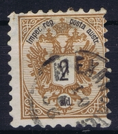 Austrian Post In Levant: Mi 8 Obl./Gestempelt/used Has A Thin Spot - Oriente Austriaco