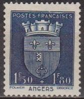 Armoiries De La Ville D'Angers - 1942 - FRANCE -  Blason, Fleurs De Lis, Clé - N° 558 * - France