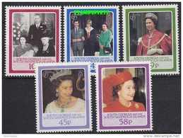 South Georgia 1986 60th Birthday Queen Elizabeth II 5v  (41708) - Zuid-Georgia