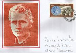 Marie Curie, Prix Nobel,  Belle Lettre De Monte-Carlo, Adressée En France - Nobelprijs