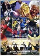 TCHAD - COUPE DU MONDE DE FOOTBALL 2010 - LIONEL MESSEI- THIERRY HENRY- BLOC  NEUF** .- CLJM0910X - Coppa Del Mondo
