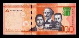 Dominican Republic 100 Pesos Dominicanos 2017 (2018) Pick New Modified Design SC UNC - República Dominicana