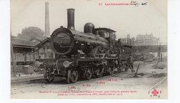 Les Locomotives étrangères (Etat) Machine N°622 Pour Trains De Grandes Lignes Construite En 1888. - Trains