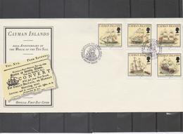 """CAIMANES (Îles) -Voiliers - 200 Ans Du Naufrage Des """"Ten Sail"""" (10 Voiliers) Le 8 Février 1794 - Bateaux - - Amérique Centrale"""