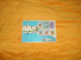 CARTE POSTALE CIRCULEE DATE ?.../ TUNISIE ILLUSTRATEUR ?..CACHETS + TIMBRES - Tunisie (1956-...)