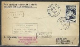 Premier Vol Expédition Polaire, 5 Juillet 1950 ( Premier Courrier Aérien Madagascar - Ile Tromelin - Marcophilie (Lettres)