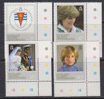 Falkland Islands Dependencies (FID) 1982 21st Birthday Princess Of Wales 4v (corners) ** Mnh (41709A) - Zuid-Georgia