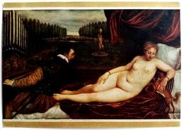 #545  ''Venus Delighted By The Music'' By Tiziano-  Fine Art Picture Postcard - Pittura & Quadri