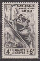 Conducteur De Locomotive - FRANCE - Lignes De Chemin De Fer, Secours Natuional - N °618 ** - 1944 - France