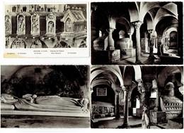 Lot 4 Cpm 77 JOUARRE Abbaye Notre Dame Statue Sainte Ozanne Chien St Claudien Verein Potentien Abesses Coquille St Jacq. - France