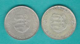 Hungary - Republic - 5 Forint - Lajos Kossuth - 1946 (KM534) & 1947 (KM534a) - Hongrie
