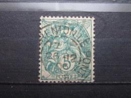 """VEND BEAU TIMBRE DE FRANCE N° 111 , OBLITERATION """" CHARENTON-LE-PONT """" !!! - 1900-29 Blanc"""