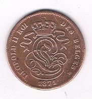 2 CENTIMES 1871 BELGIE /0642/ - 1831-1865: Leopold I