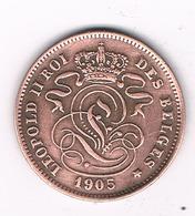2 CENTIMES 1905 FR BELGIE /0643/ - 1831-1865: Leopold I
