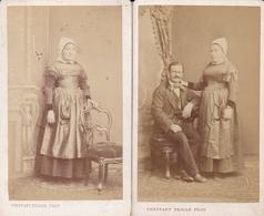 """NANTES - Lot De 5 Cartes De Visites - C.D.V. Du Photographe """"Constant Peigne"""" - Costumes Et Coiffes  - Voir Description - Nantes"""
