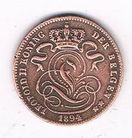1  CENTIEM 1894 VL BELGIE /0644/ - 01. 1 Centime