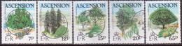 ASCENSION 1985 SG #371-75 Compl.set Used Trees - Ascension
