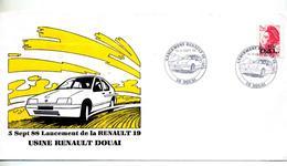 Lettre Cachet Douai Lancement Renault 19 - Commemorative Postmarks
