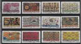 2011  France N° A 512 à 523  Nf**  MNH. Adhésifs .Série  Complète. Tissus Du Monde - France
