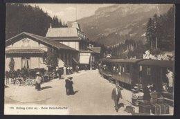 Brünig Beim Bahnhof Buffet - Eisenbahnwaggon - Kutsche - Belebt - Animée - Bahn - BE Bern