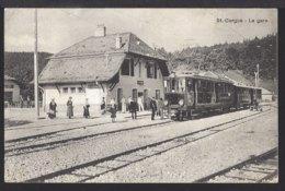 St. Cergue - La Gare - Bahnhof - Train à Vapeur - Dampflok - Chemin De Fer - 1920 - VD Vaud