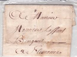 LAC Précurseurs XVIII Toulouse 05/03/1750 Pour Laffont A Fleurance TB - Marcophilie (Lettres)