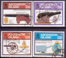 ASCENSION 1985 SG #381-84 Compl.set Used Guns - Ascension