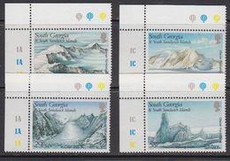 South Georgia 1989 Glacier Formations 4v (corners) ** Mnh (41711A) - Zuid-Georgia