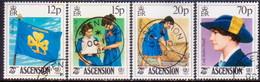 ASCENSION 1985 SG #385-88 Compl.set Used Girl Guides - Ascension