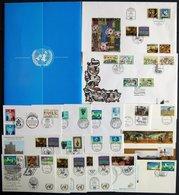 UNO - WIEN **,Brief , Komplette Postfrische Sammlung UNO-Wien Von 1979-91, Dazu Einige FDC`s Von 1993-95 Sowie 3 Mappen - Wien - Internationales Zentrum