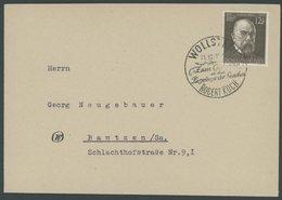 Dt. Reich 864 BRIEF, 1943, 12 Pf. Prof. Robert Koch Mit Sonderstempel WOLLSTEIN 11.12.43, Pracht - Allemagne