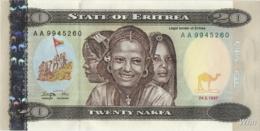 Erythrée 20 Nakfa (P4) 1997 (Pref: AA) -UNC- - Erythrée
