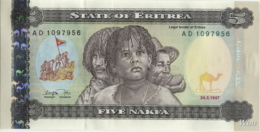 Erythrée 5 Nakfa (P2) 1997 (Pref: AD) -UNC- - Erythrée