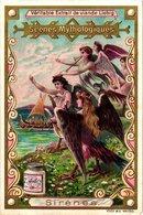 0472   Liebig 6 Cards -C1897-The World Of Greek Mythology- Scènes Mythologiques-Centaures-Faunes-Satires-Sirènes Litho - Liebig
