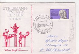 Teleman-compositeur-lettre, Voir Oblitération,DDR - Music