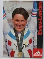 Carte Postale De Nathalie EVEN - LANCIEN - Dédicace - Hand Signed - Autographe Authentique - - Ciclismo
