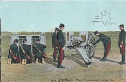 Militaria : Artillerie : Pour Le Premier Coup, Feu ! - Guerre 1914-18
