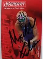 Carte Postale De Alessandro FABIAN - Dédicace - Hand Signed - Autographe Authentique Du Triathlète - Ciclismo