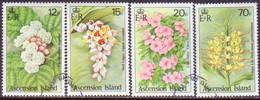 ASCENSION 1985 SG #389-92 Compl.set Used Wild Flowers - Ascension