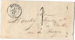 NORD ( 57 )  « MAUBEUGE » LSI - 15gr. - En Port Dû - Tarif De Ville à 10c.  * 1.1.1849 Au 31.12.1862 * T. à D. - Storia Postale