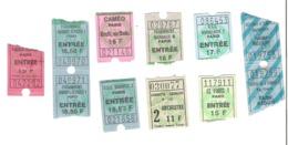 Tickets D'entrée Cinéma PARIS : Paramount Marivaux, Caméo, Publicis Elysées, Gambetta Gaumont...lot De 11 Tickets - Tickets D'entrée