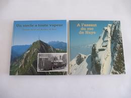 SUISSE (Canton De Vaud) : CHEMIN De FER à Crémaillère Des ROCHERS-de-NAYE - LOT De 2  Livres  édités En 1985 Et 1992 - Chemin De Fer & Tramway